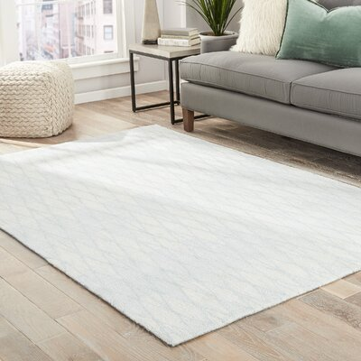 Shanice  Hand-Tufted Cream/Gray Area Rug Rug Size: Rectangle 76 x 96
