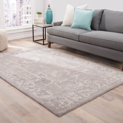 Belleville Hand-Tufted Flint Gray/Gray Morn Area Rug Rug Size: Rectangle 5 x 8