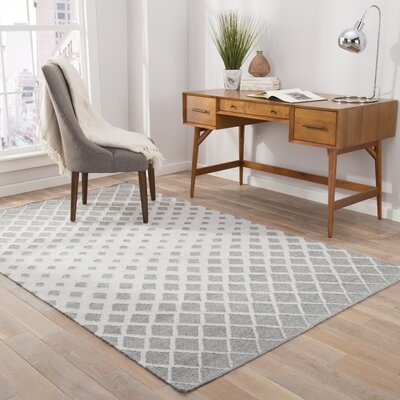 Heinz Gray Indoor/Outdoor Area Rug Rug Size: Rectangle 2 x 3