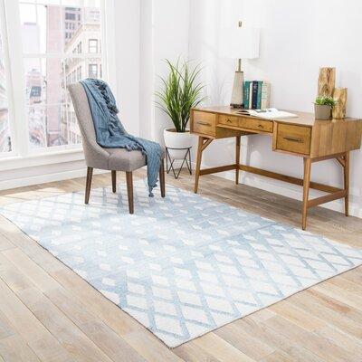 Heinz Blue/Cream Indoor/Outdoor Area Rug Rug Size: Rectangle 8 x 10