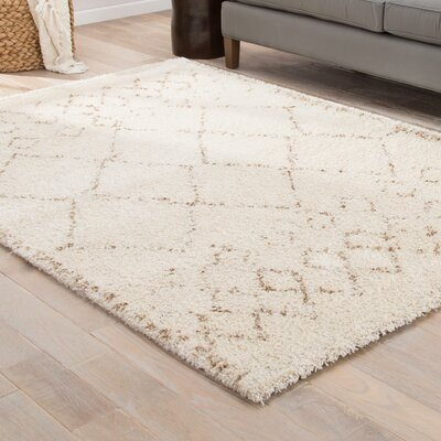Gracelynn Gray/Brown Area Rug Rug Size: Rectangle 53 x 76