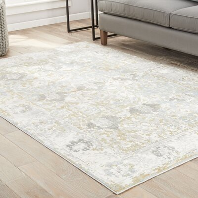 Carly Antique White/Tourmaline Area Rug Rug Size: Rectangle 9 x 12