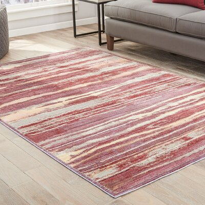 Safire Raspberry Wine/Straw Area Rug Rug Size: Rectangle 5 x 8
