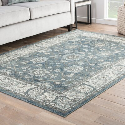 Vika Blue/Gray/Brown Area Rug Rug Size: 53 x 76