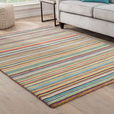 Kandice Hand-Tufted Multicolored Area Rug Rug Size: 5 x 8