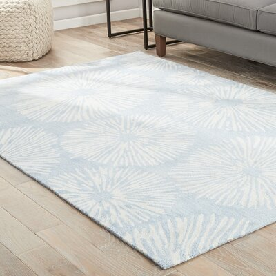 Bruford Hand-Tufted Blue/Tan Area Rug Rug Size: 5 x 76