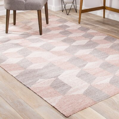 Shana Silver/Gray/Blush Indoor/Outdoor Area Rug Rug Size: 2 x 3