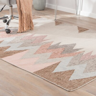 Brys Pink/Gray Indoor/Outdoor Area Rug Rug Size: 5 x 8