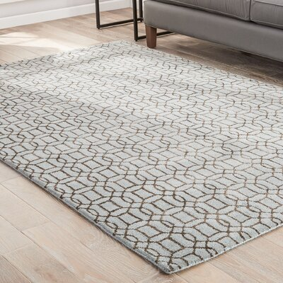 Birch Hill Hand-Tufted Blue/Brown Area Rug Rug Size: 96 x 136