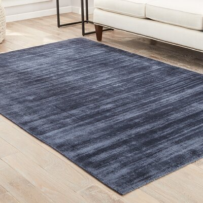 Sara Hand-Woven Blue/Gray Area Rug Rug Size: Rectangle 8 x 10