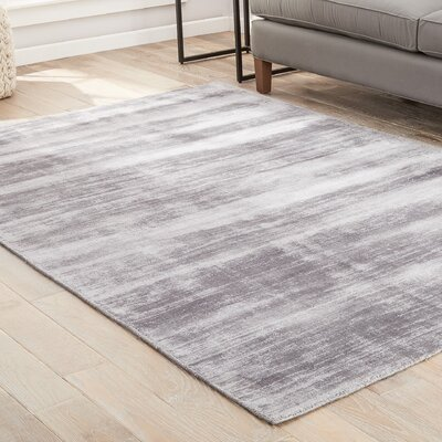 Sara Hand-Woven Gray Area Rug Rug Size: Rectangle 9 x 12