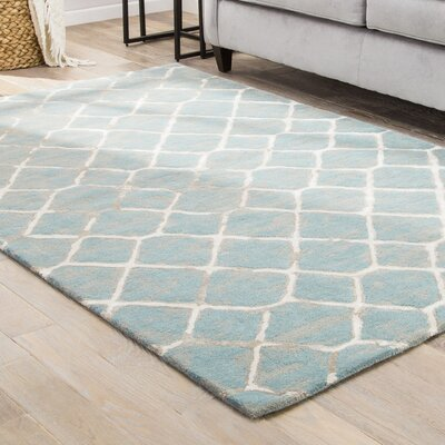 Heldt Hand-Tufted Blue/Cream/Tan Area Rug Rug Size: 9 x 12