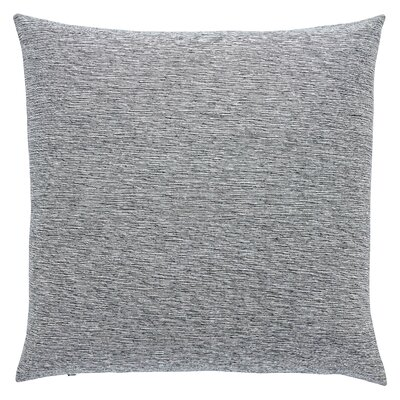 Cotton Silk Throw Pillow Fill Material: Down/Feather, Color: Silver Blue