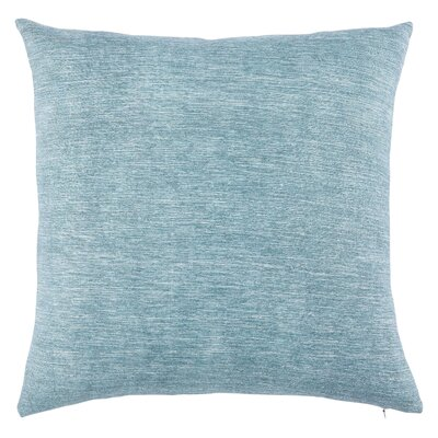 Cotton Silk Throw Pillow Fill Material: Polyester/Polyfill, Color: Silver Blue