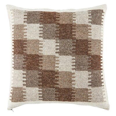 Burnley Throw Pillow Color: Brown/Gray, Fill Material: Down/Feather