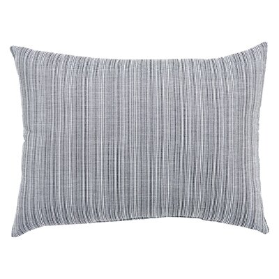 Jaxson Stripe Indoor/Outdoor Lumbar Pillow Color: Black