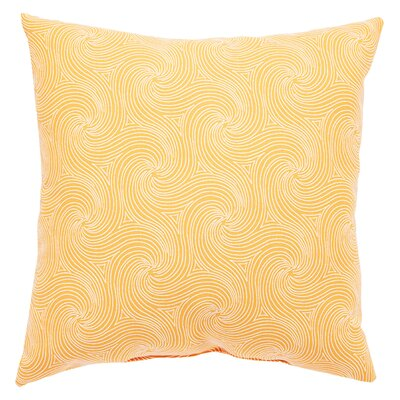 Turin Indoor/Outdoor Geometric Throw Pillow Size: 20 H x 20 W x 6 D, Color: Orange