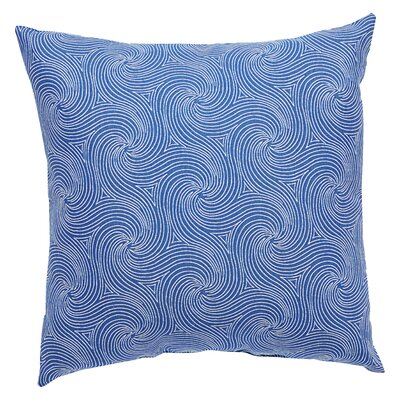 Turin Indoor/Outdoor Geometric Throw Pillow Size: 18 H x 18 W x 6 D, Color: Navy