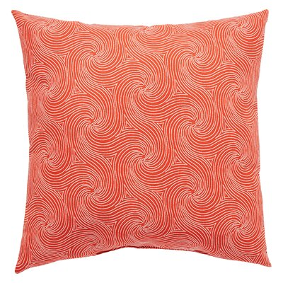 Turin Indoor/Outdoor Geometric Throw Pillow Size: 20 H x 20 W x 6 D, Color: Red
