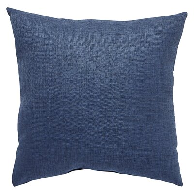 Newfield Solid Indoor/Outdoor Throw Pillow Color: Blue