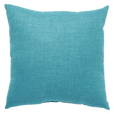 Newfield Solid Indoor/Outdoor Throw Pillow Color: Turquoise