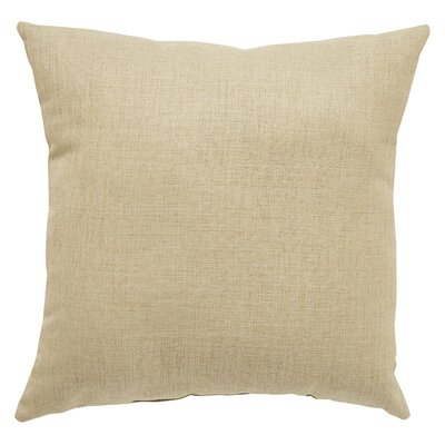 Newfield Solid Indoor/Outdoor Throw Pillow Color: Tan