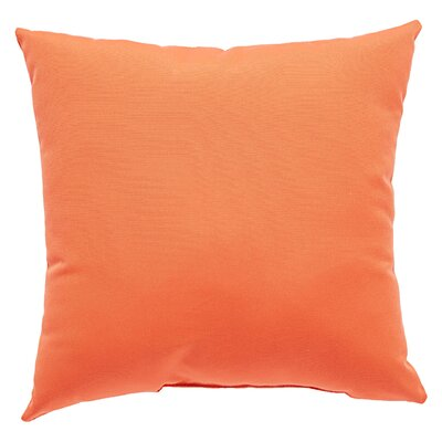 Kaley Solid Indoor/Outdoor Throw Pillow Size: 18 H x 18 W x 6 D, Color: Coral
