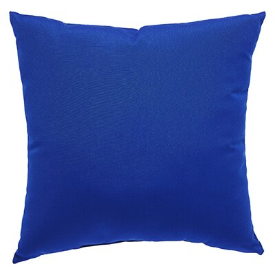Kaley Solid Indoor/Outdoor Throw Pillow Size: 18 H x 18 W x 6 D, Color: Cobalt