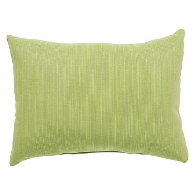 Bruch Solid Indoor/Outdoor Lumbar Pillow Color: Green