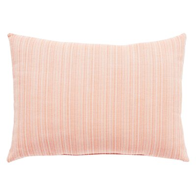 Jaxson Stripe Indoor/Outdoor Lumbar Pillow Color: Orange