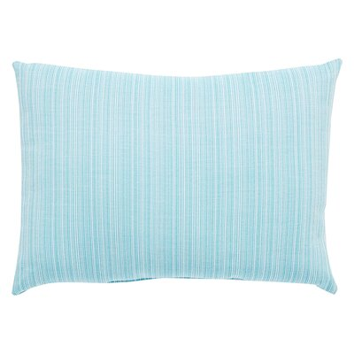 Jaxson Stripe Indoor/Outdoor Lumbar Pillow Color: Aqua