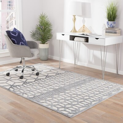 Dane Bright White/Gray Area Rug