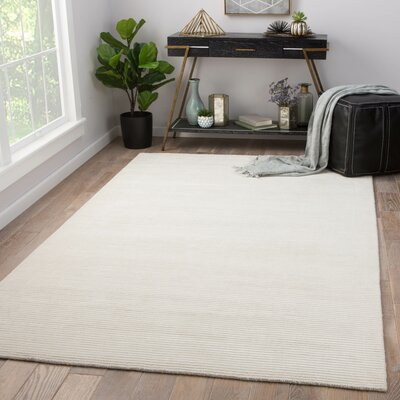 Phase Hand Woven White Area Rug Rug Size: Rectangle 9 x 12