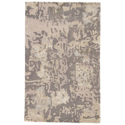 Morias Hand Tufted Gray/Taupe Area Rug Rug Size: Rectangle 2 x 3