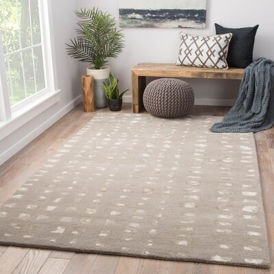 Clement Hand Tufted Gray Area Rug Rug Size: Rectangle 5 x 8
