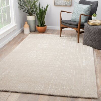Vector Hand Tufted Light Gray Area Rug Rug Size: Rectangle 5 x 8