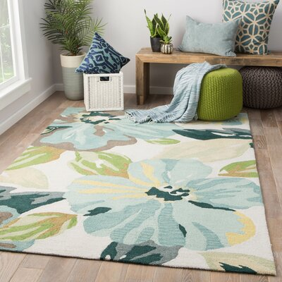 Isidore Hand Tufted Blue/Green Area Rug Rug Size: Rectangle 76 x 96