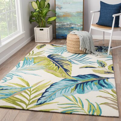 Montego Hand Hooked Blue/Green Indoor/Outdoor  Area Rug Rug Size: Rectangle 2 x 3