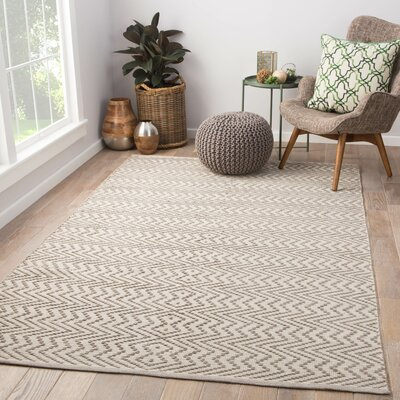Dartmoor Hand Woven Gray Indoor/Outdoor Area Rug Rug Size: Rectangle 5 x 8