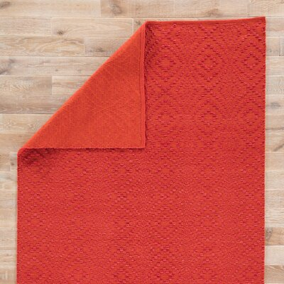 Arbor Hand Loomed Orange Indoor/Outdoor Area Rug Rug Size: Rectangle 9 x 12