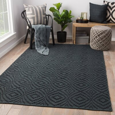 Arbor Hand-Loomed Dark Blue Indoor/Outdoor Area Rug Rug Size: Rectangle 5 x 8