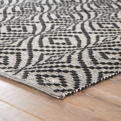 Arbor Hand-Loomed Black Indoor/Outdoor Area Rug Rug Size: Rectangle 2 x 3