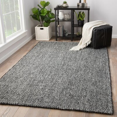 Hyde Hand-Loomed Black Area Rug Rug Size: Rectangle 9 x 12