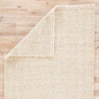 Terre Hand-Loomed Beige Area Rug Rug Size: Rectangle 5 x 8