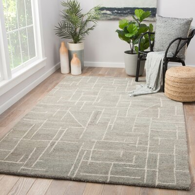 Jetson Hand-Tufted Wool Gray Area Rug Rug Size: Rectangle 5 x 8