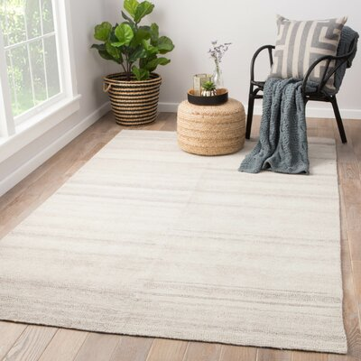 Orleanna Flat Woven Cream Indoor/Outdoor Area Rug Rug Size: Rectangle 5 x 8
