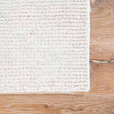 Orleanna Flat Woven White Indoor/ Outdoor Area Rug Rug Size: Rectangle 5 x 8