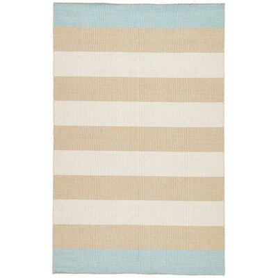 Mendocino Flat Woven Wool Tan Area Rug Rug Size: Rectangle 5 x 8