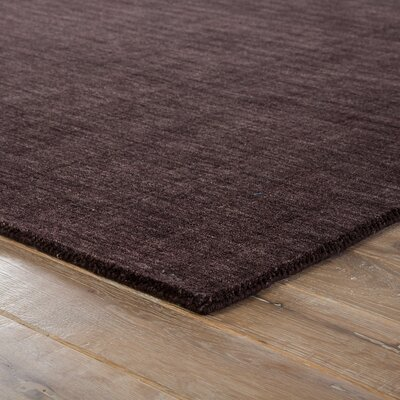 Constanz Hand-Loomed Wool Black Area Rug Rug Size: Rectangle 5 x 8