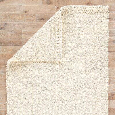 Tate Hand-Loomed White Area Rug Rug Size: Rectangle 5 x 8